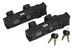 ABUS Bordo 6000/90 Twin Set Gelenkschloss - Candado de cable - negro